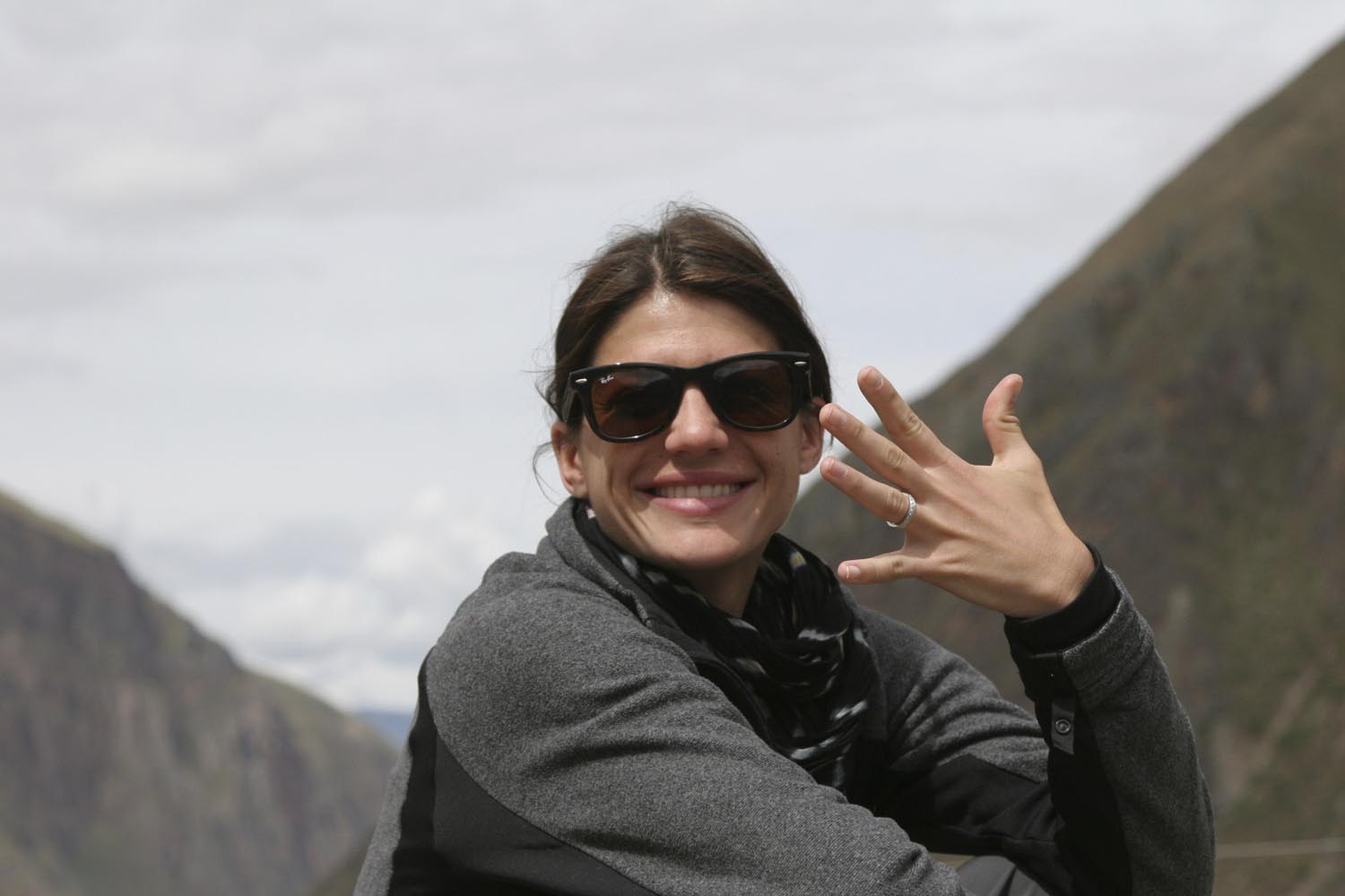 Genevieve Padalecki on her honeymoon in Machu Picchu