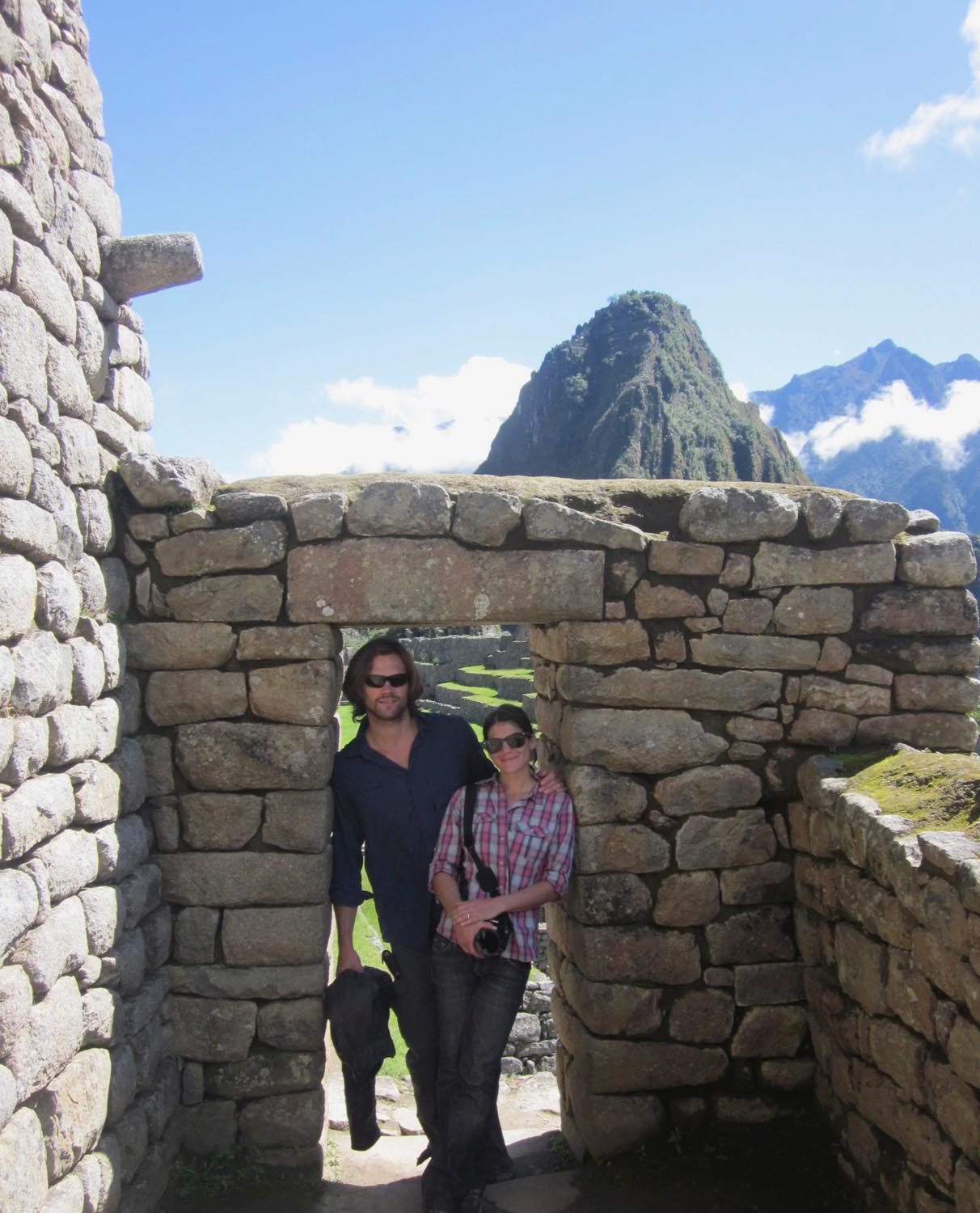 Gen and Jared Padalecki on their honeymoon in Machu Picchu