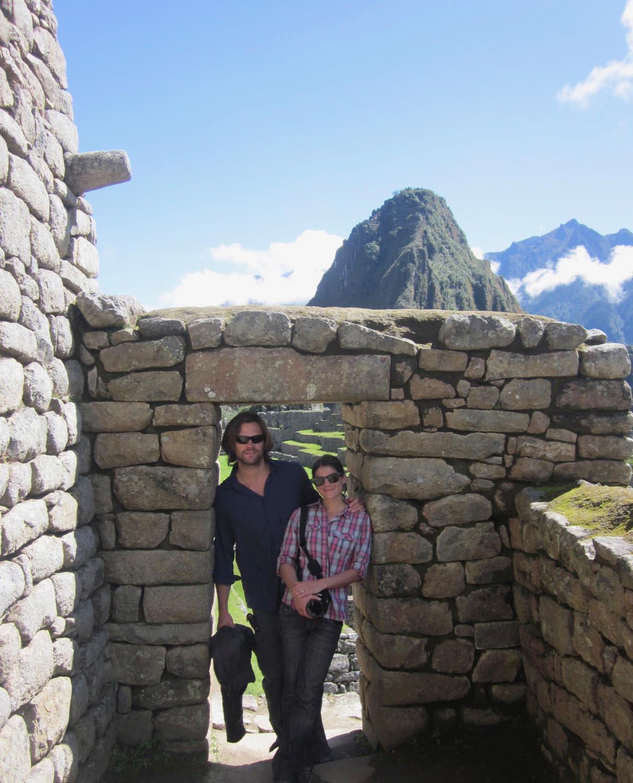 Gen and Jared Padalecki on their honeymoon in Machu Picchu