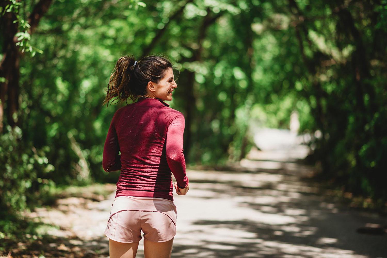 Genevieve Padalecki Running In Her New Running Gear