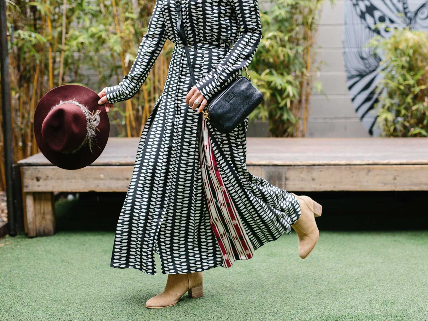 Gen's favorite casual maxi dress and boho hat